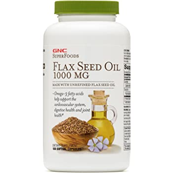 GNC SuperFoods Flax Seed Oil 1000 MG