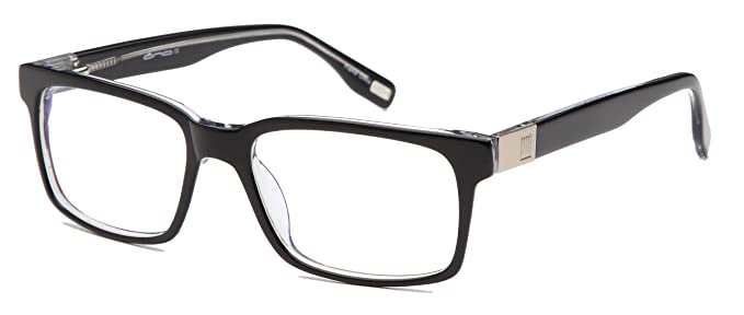 mens strong glasses frames prescription eyeglasses rxable 55 18 145 37 in black