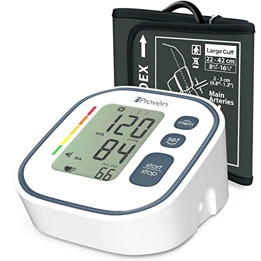 Amazon.com: Blood Pressure Monitor Full Automatic with Cuff for Adults (Grey): Health & Personal Care