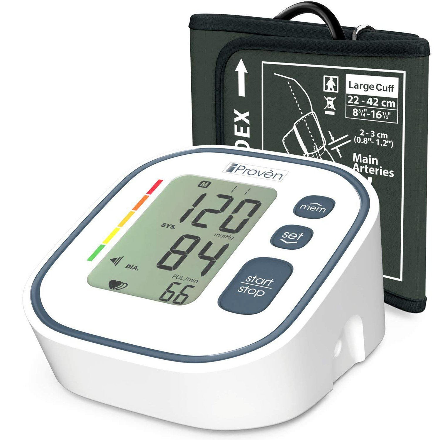 Digital Automatic Blood Pressure Monitor - Upper Arm Cuff - Large Screen - Accurate & Fast Reading Electronic Machine - Top Rated BP Monitors and Cuffs - FDA Approved - iProvèn BPM-634 - for Home Use by iProvèn (Image #1)