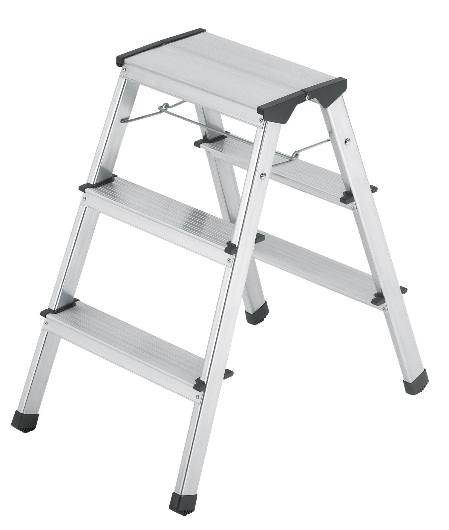 Hailo 8643-001 Stepke-Model 330-Pound Capacity Aluminum Step Stool, 3-Step
