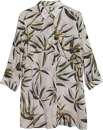 Elena Mirò : Camisa Amplia de Estampado Tropical (Italian Size)