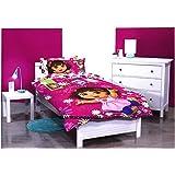 Single Bed Dora The Explorer GILRS Licensed Quilt DOONA Cover Set + Pillowcase