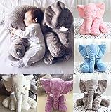 Elephant Pillow(Baby Toys)/Elephant Stuffed Plush Pillow Sleeping Cushion Pillow Kids Comfort Toy (Grey)
