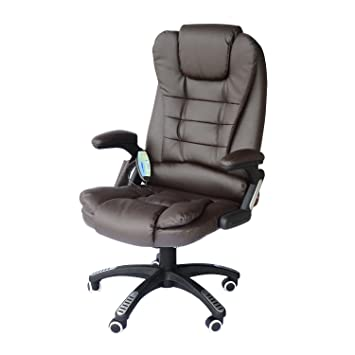 Bürosessel  Homcom A2-0056 Bürosessel, Lederimitat, braun, 62 x 68 x 121 cm ...