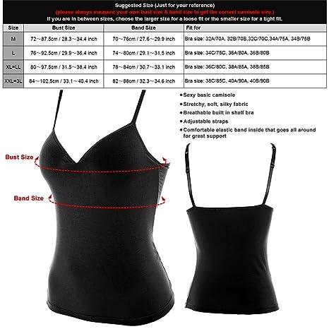46ac1945650 Amazon.com  Mutreso Women Camisole Cami with Built in Shelf Bra Adjustable  Spaghetti Straps Active Yoga Tank Top  Sports   Outdoors