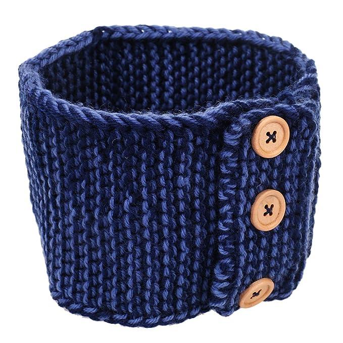 Damen 3 Knoepf Häkelarbeit Schleife Design Stirnband Winter Kopfband ...