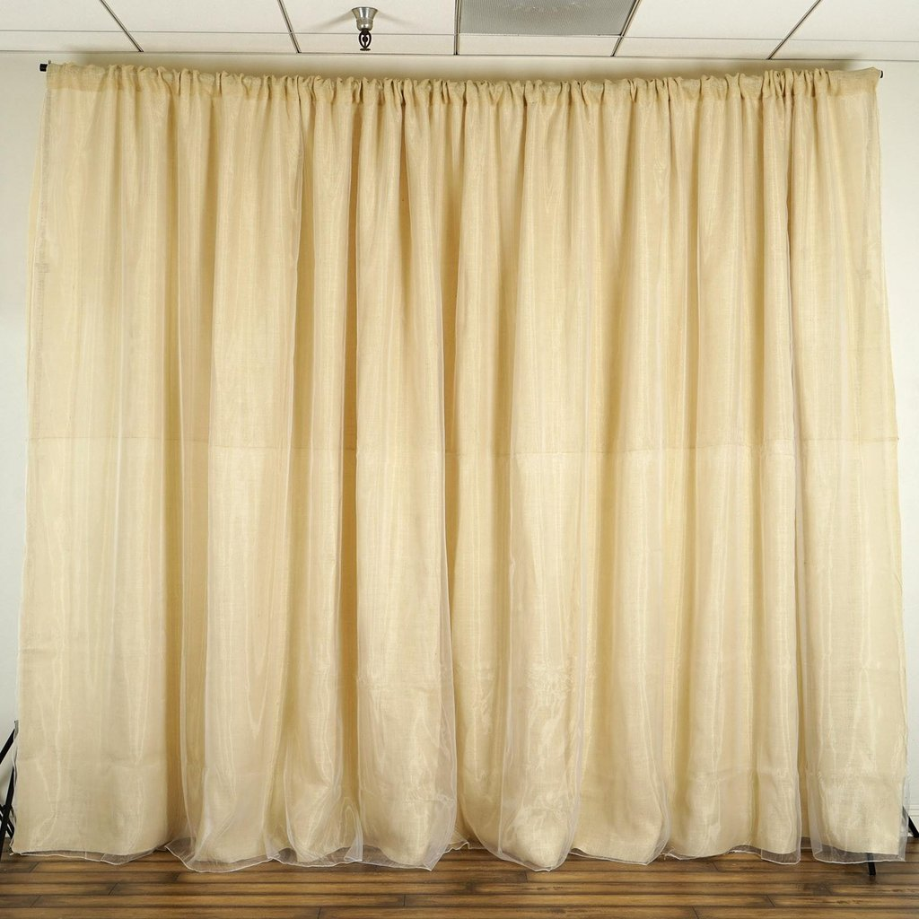BalsaCircle 20 feet x 10 feet Natural Brown Burlap Backdrop Drapes Curtains - Wedding Ceremony Event Party Photo Booth Home Windows by BalsaCircle
