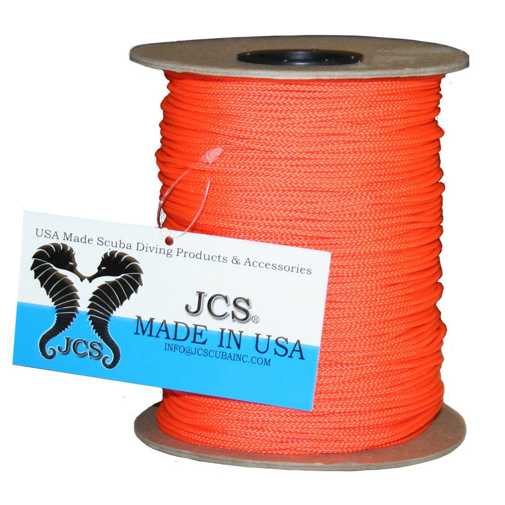 Amazon.com : JCS 24 Braided Polyester Dacron Reel Line, Orange Spool ...