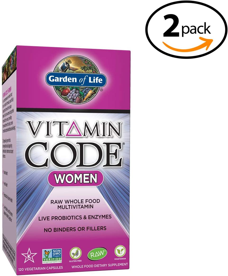 Garden of Life Multivitamin for Women - Women's Raw Whole Food Vitamin Supplement with Probiotics, Vegetarian, 120 Count