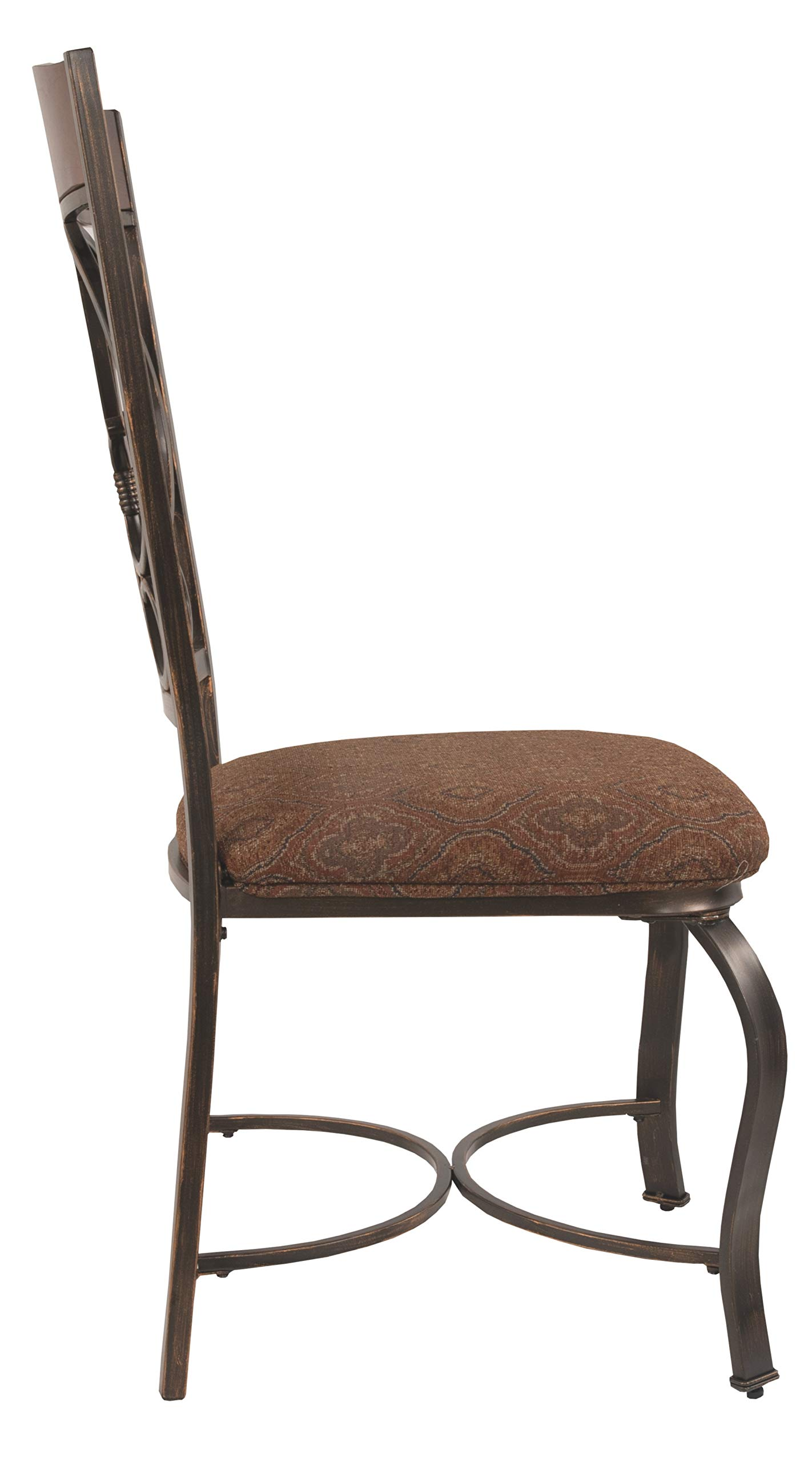 Ashley Furniture Signature Design - Glambrey Dining Room Chair Set - Scrolled Metal Accents - Set of 4 - Brown by Signature Design by Ashley (Image #4)