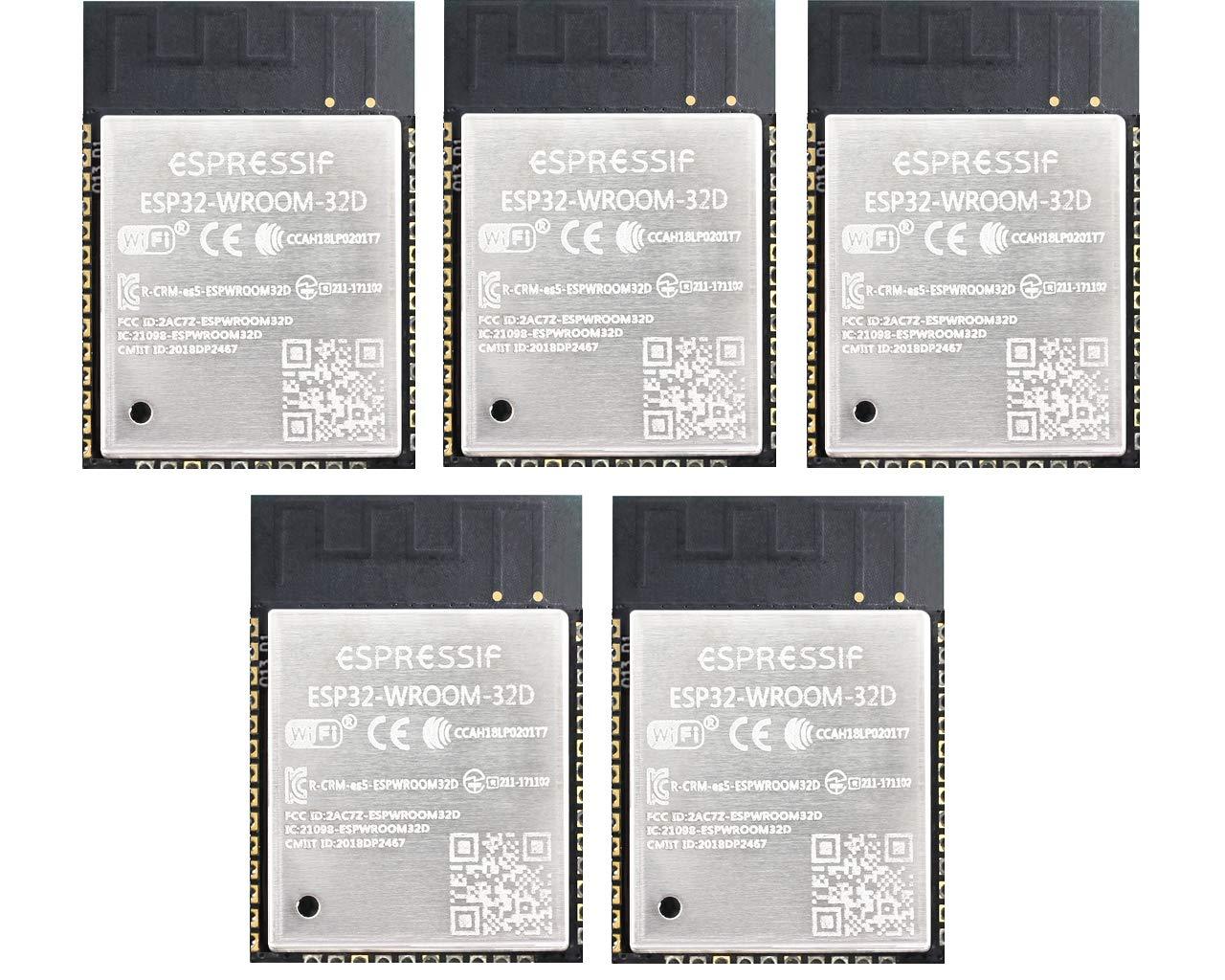 5 Pack Espressif ESP32 IOT ESP-WROOM-32D RLatest Revision