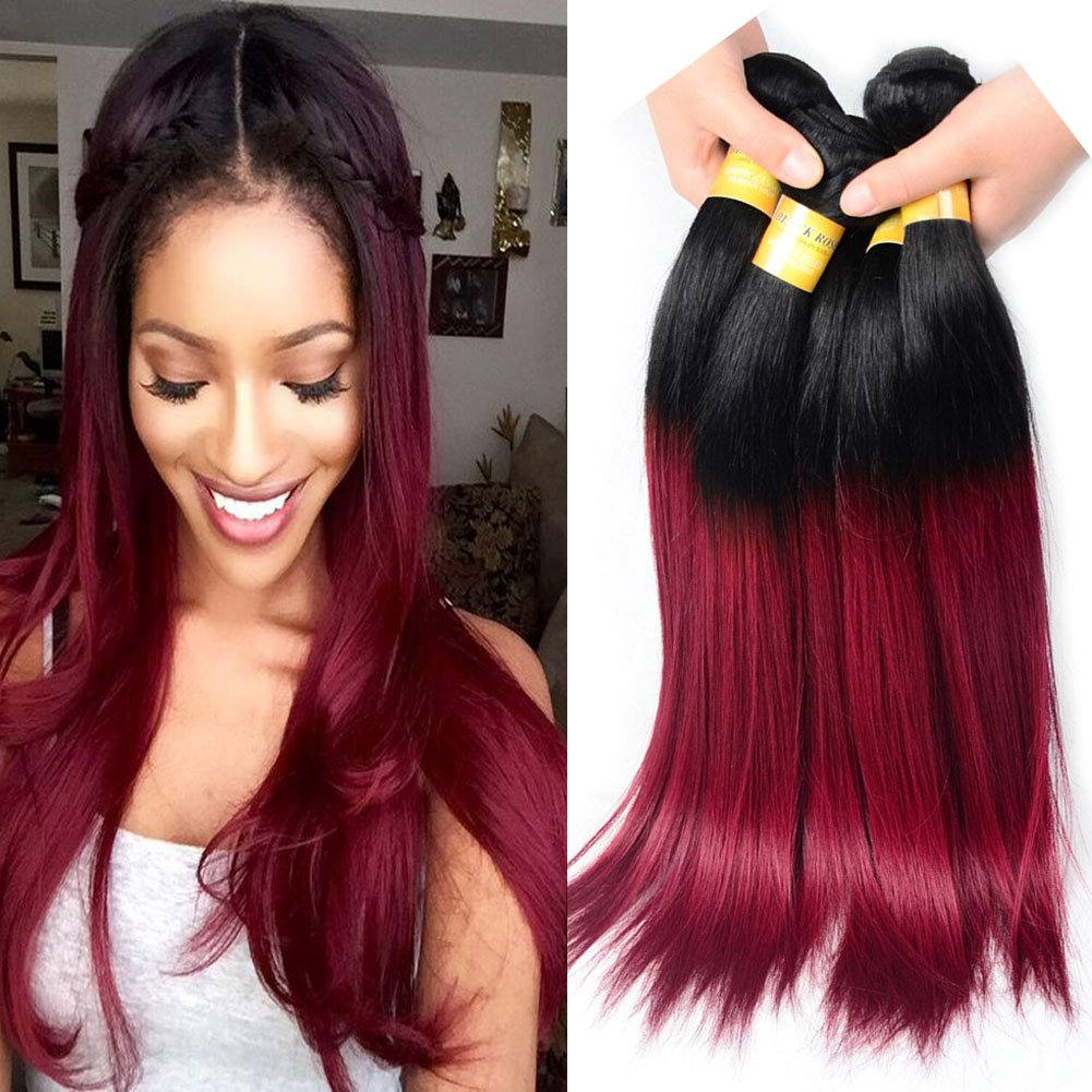 80off Black Rose Hair Brazilian Ombre Hair 4 Bundles 10 10 12 12