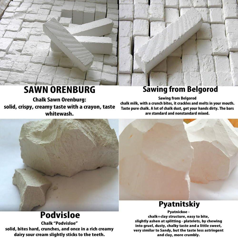 Essbarer Ton /& essbare Kreide4/Sorten Ton//Heilerde und 4/Sorten Kreide.