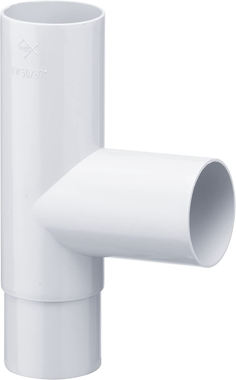 Regenrinne 87/° INEFA Rohrabzweiger DN 50//50 Dachrinne Kunststoff