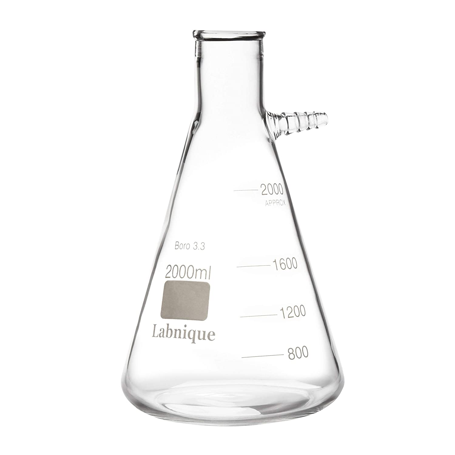 Glass Filtering Flask with Upper Tubulation, 2000ml