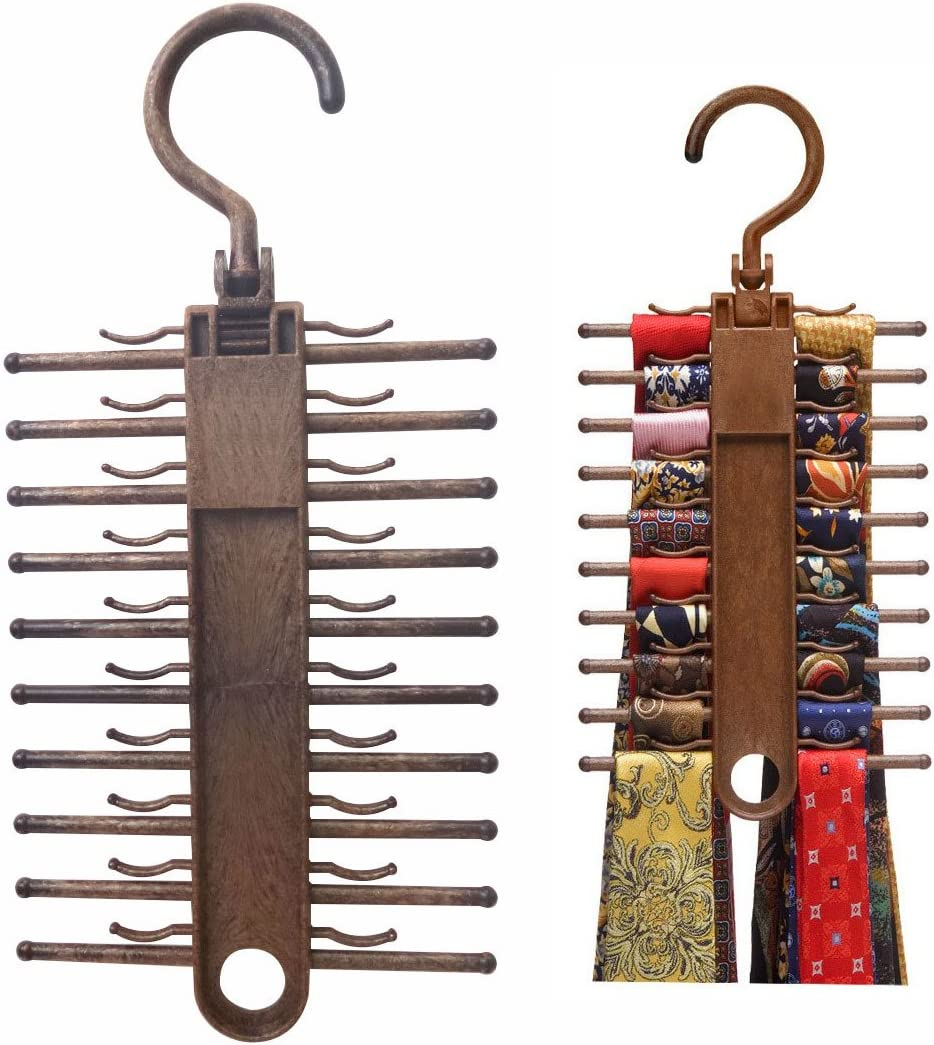 Multifunction Nonslip Necktie Belts Tie Hanger Rack Shawl Scarf Closet Plastic