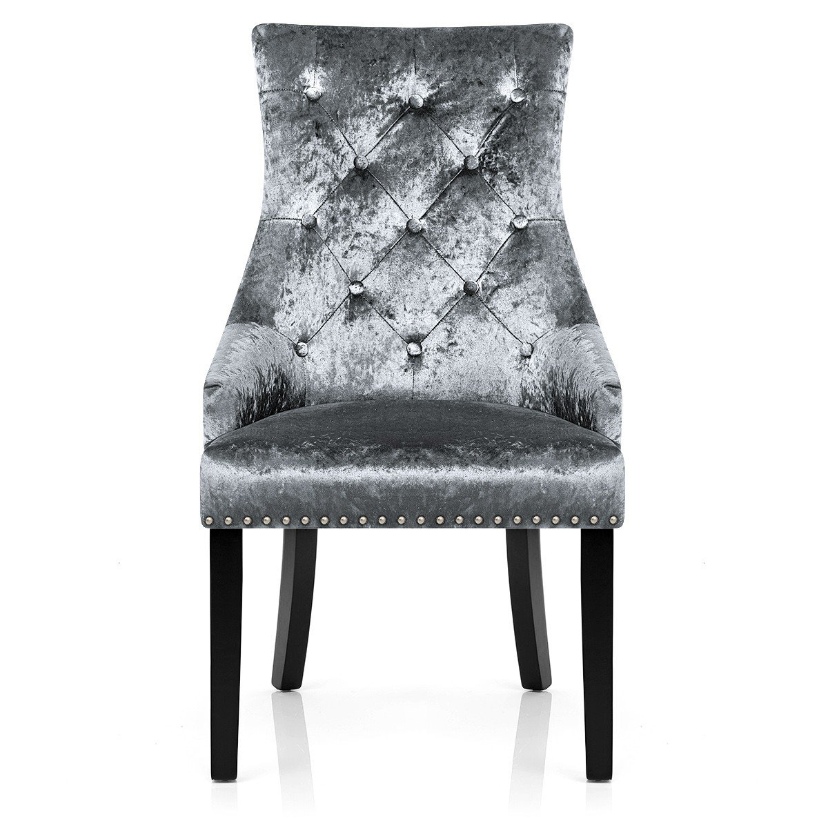 ascot dining chair grey velvet amazoncouk kitchen  home -