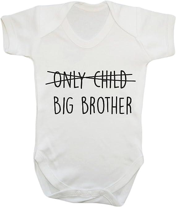 Boys Girls Long Sleeve Hippowarehouse Personalised I Love My Big Brother Name HERE Baby Vest Bodysuit