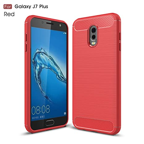 Samsung Galaxy J7 Plus Funda,2ndSpring Carcasa Slim Soft ...