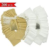 Wandefol Bolsas de té de papel con cordón