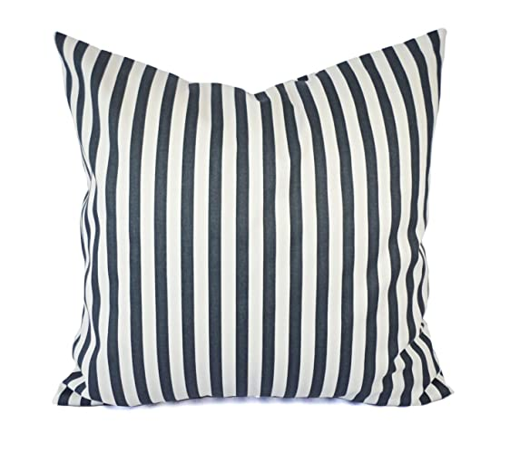 448d4093af3 Charcoal Pillows - Grey and White Striped Pillow Cover - Custom Pillow Sham  - Decorative Pillow Case - 16 x 16 Inch 18 x 18 Inch 20 x 20 Inch Throw  Pillow