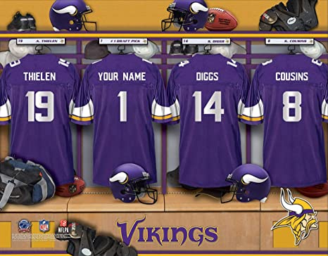 Image Unavailable. Image not available for. Color  Personalized Minnesota  Vikings Wall Poster ... 16ce3351b