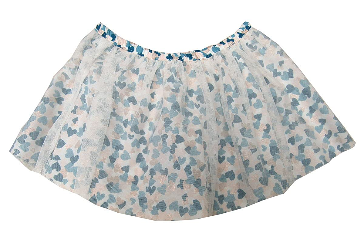 Epic Threads Mix and Match Metallic Hearts Tulle Skirt Holiday Ivory 6X