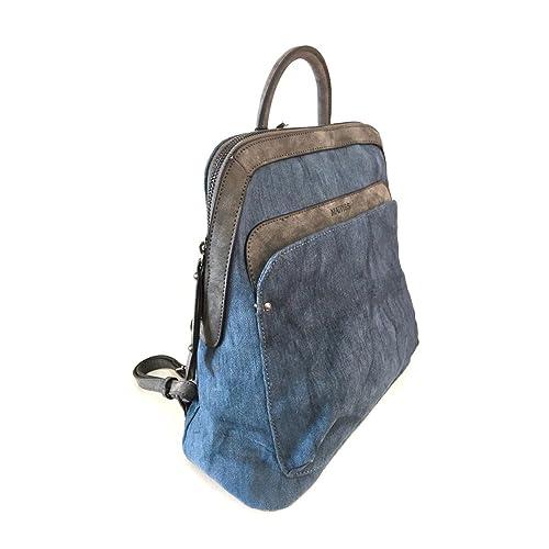 4e79a0de4cd Bolso Mochila Mujer Matties Nacar Azul  Amazon.es  Zapatos y complementos