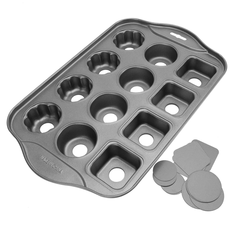 12 Cups Mini Cheesecake Pan, springform Pan,bundt cake pan-Three mixed shapes