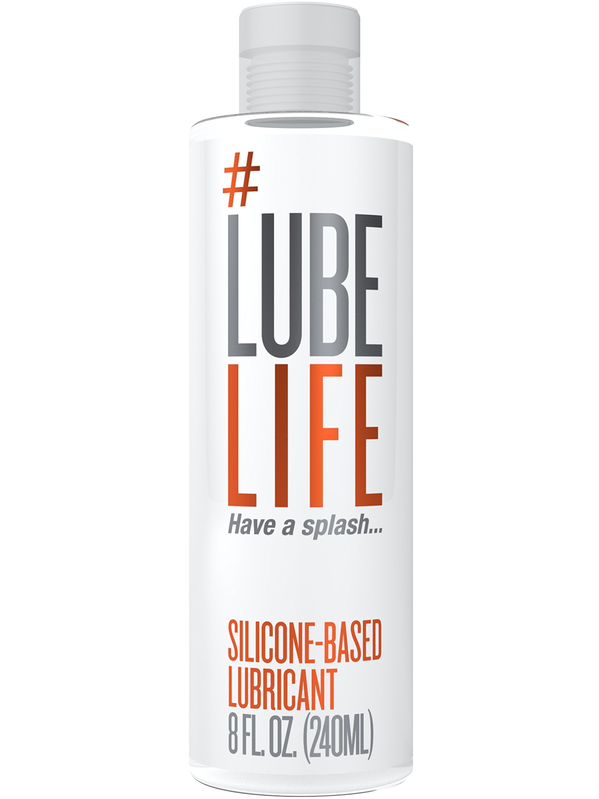 #LubeLife Anal Lubricant - Thick Silicone Based Lube, 8 Ounce Waterproof Anal Sex Lube for Men, Women and Couples (Free of Parabens, Glycerin and Oil)