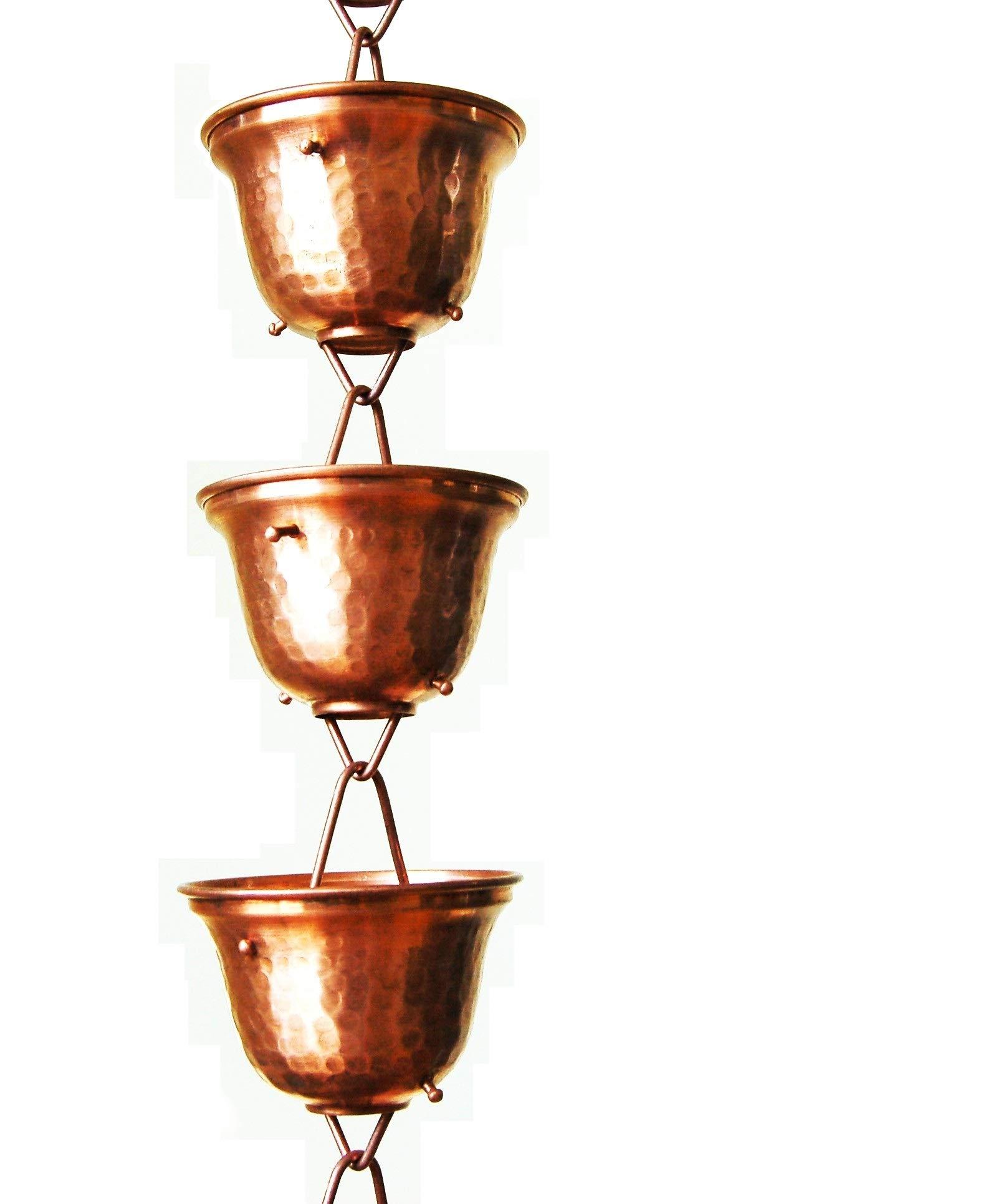 U-nitt 8-1/2 feet Pure Copper Rain Chain: Tealight Cup 8.5 ft Length #3124C