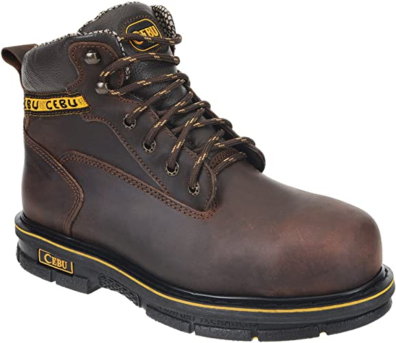 "CEBU Mens Rodeo 10/"" Composite-Toe Work Boot"