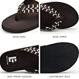 QLEYO Men Sandals Flip Flops Bath Shower Shoes