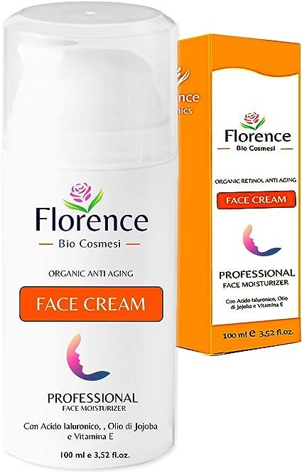 Grande 100ml. Bio Crema Hidratante facial con Ácido Hialurónico, Retinol y Vitamin C. 20+Ingredientes Orgánicos Antiedad y Antiarrugas para la cara/Contorno de Ojos. Cremas de Dia/Noche y Mujer/Hombre: Amazon.es: Belleza