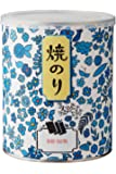 金子海苔店 [創業150年] 有明海産 特選 焼き海苔 8切れ92枚入 (焼きのり 国産) 青い花のギフト缶 贈答品にも