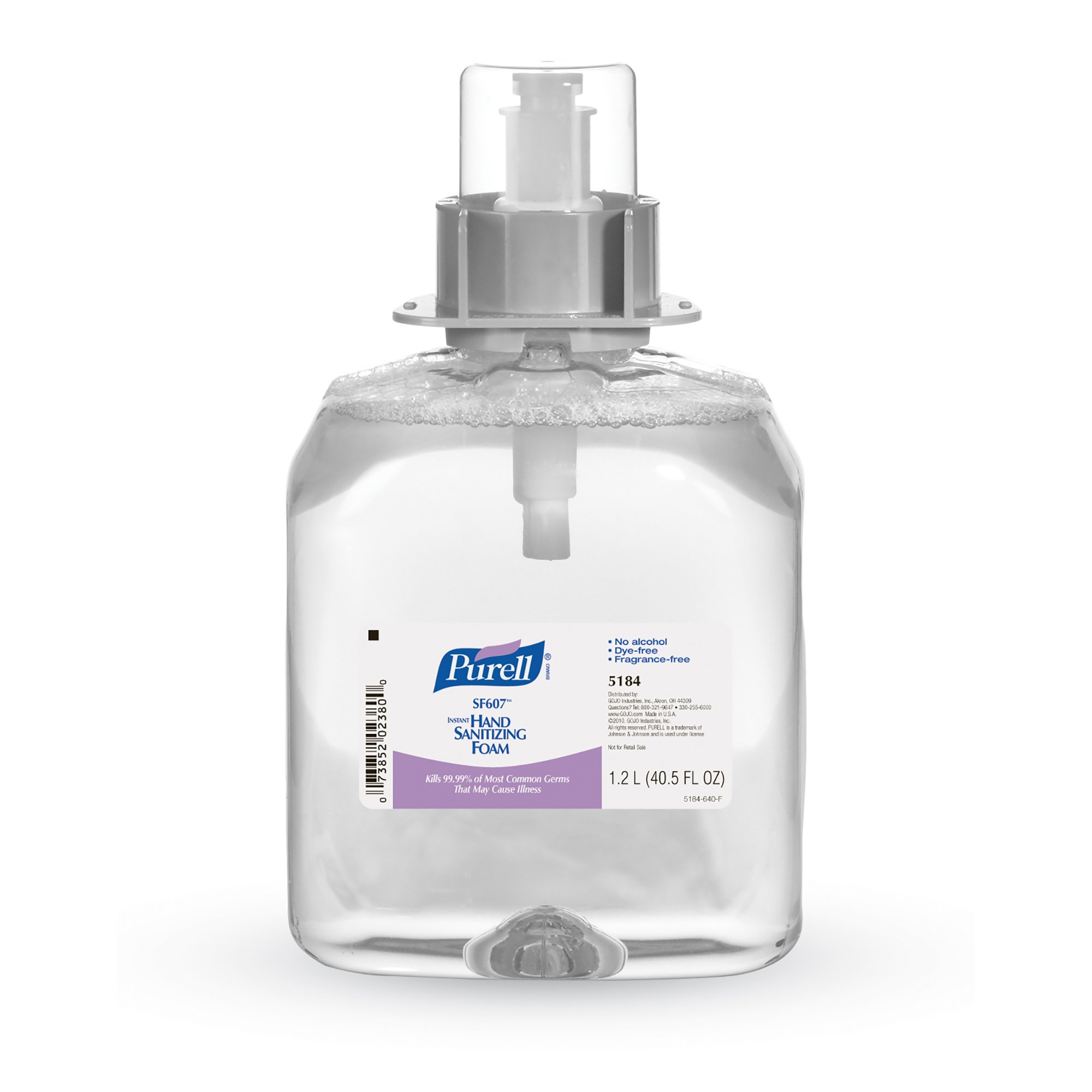 PURELL 5184-03 SF607 Instant Hand Sanitizing Foam, 1200 mL Refill (Pack of 3)