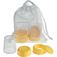 Medela Wide Base Bottle Collar & Lid Set, Pack of 1