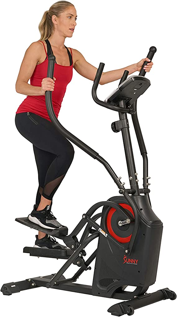 Sunny Health & Fitness Premium Cardio Climber Stepping Elliptical Machine - SF-E3919