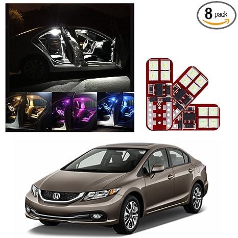 Amazon.com: IRONSKY 2013-2018 Honda Civic Car LED Luces ...