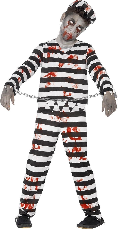 PRISONER BOY JAIL GAOL CONVICT BOYS GIRLS CHILD FANCY DRESS UP HALLOWEEN COSTUME