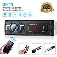 Bluetooth Autoradio OCDAY, autoradio stéréo numérique radio de voiture, audio USB/SD/lecteur MP3 récepteur bluetooth mains libres avec télécommande