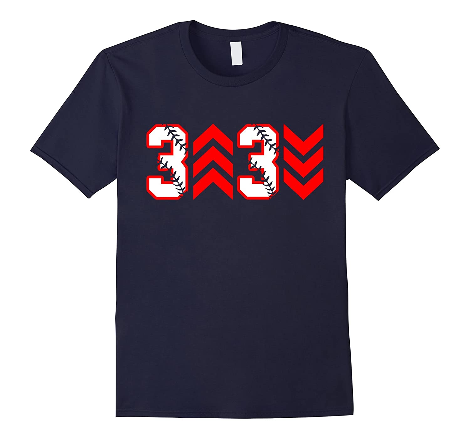 3 Up 3 Down Baseball Number Funny Shirt Gift-BN