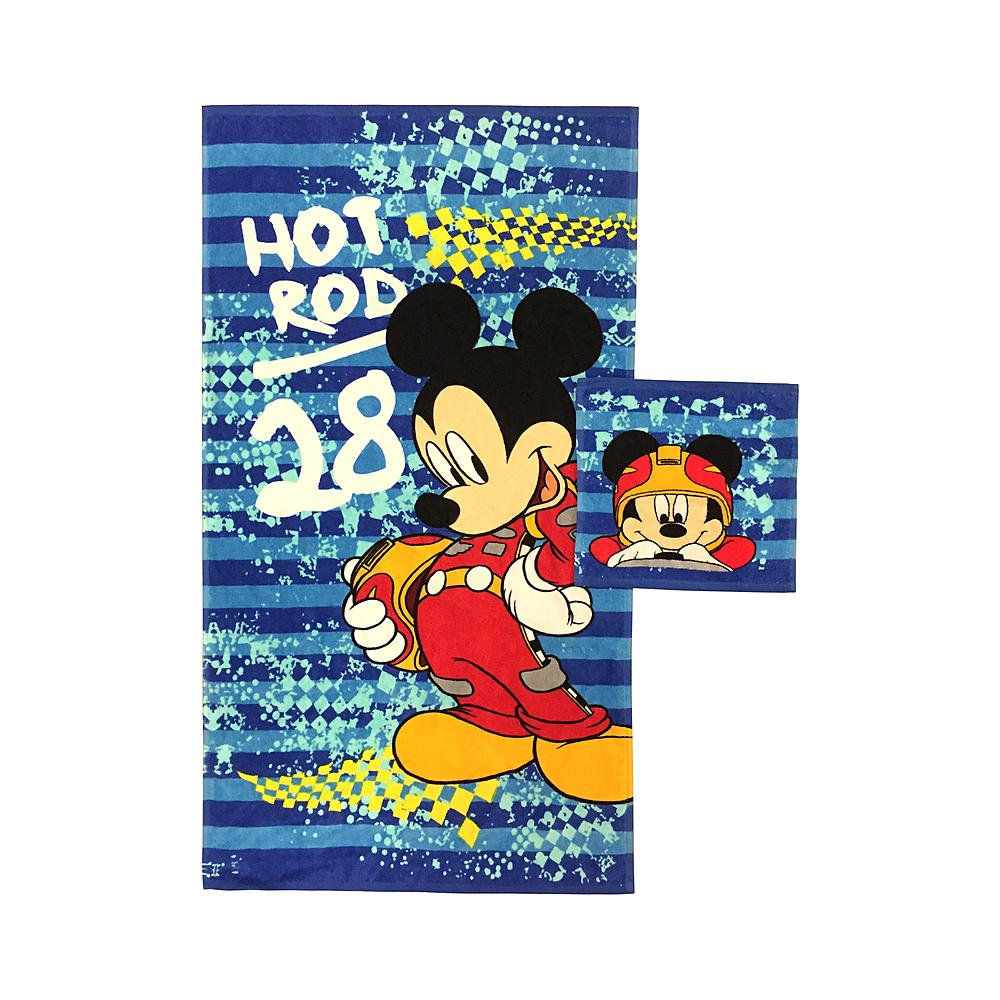 Disney Mickey Mouse Kids Children Toddlers Bath Towel & Washcloth Set