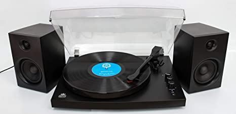 GPO Piccadilly Tocadiscos Retro de 3 velocidades Bluetooth con ...
