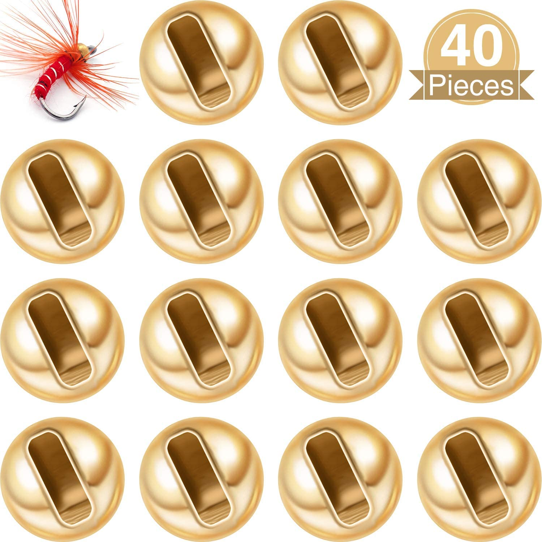 3,0 mm Gold WILLBOND 40 St/ück Geschlitzte Wolfram Perlen zum Fliegenbinden von Nymphenkopf Kugeln Perlen