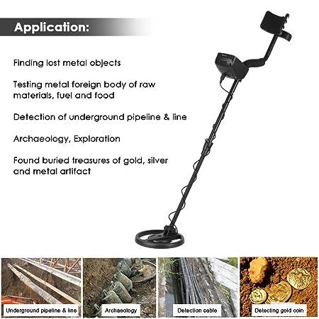 Amazon.com: Metal Detector, KKmoon Underground Metal Detector Lightweight Ground Nugget Detector Gold Digger Treasure Hunter with Adjustable Sensitivity: ...