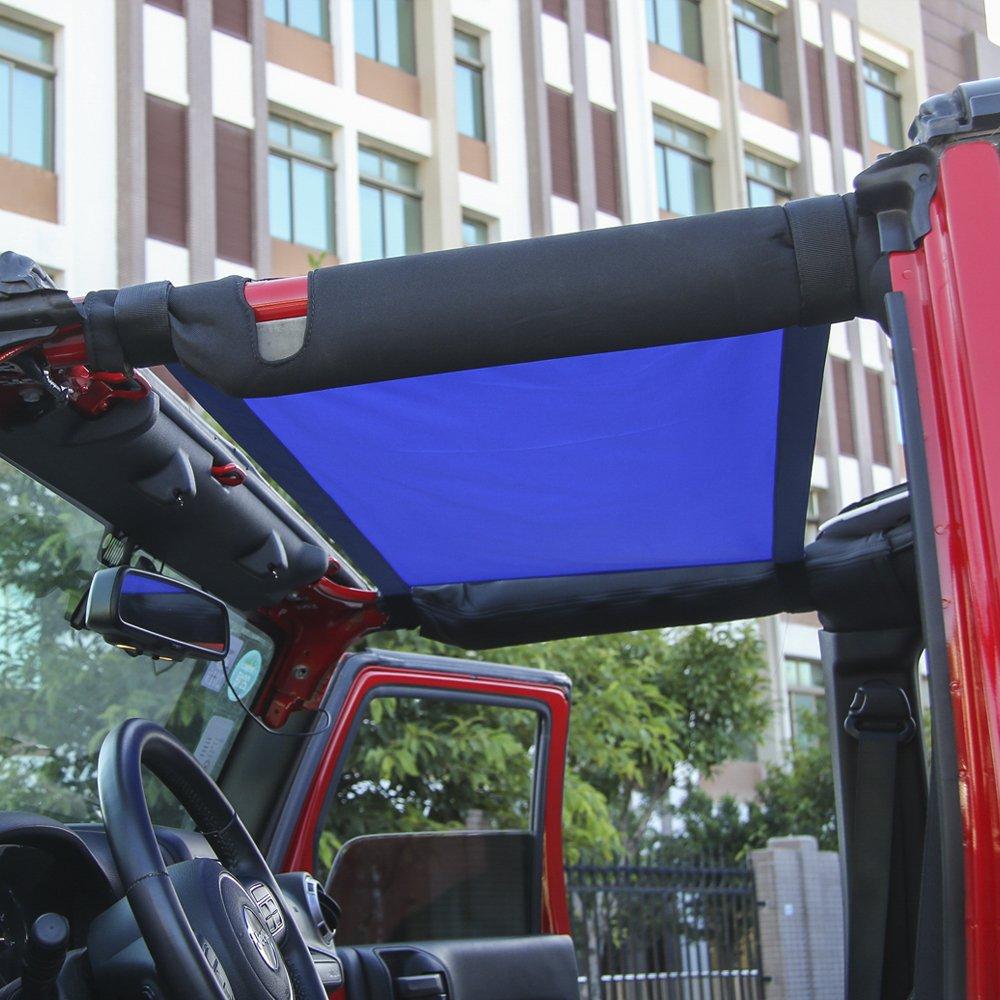 JeCar Mesh Roof Cargo Net Roof Hammock Exterior Accessories for 1987-2020 Jeep Wrangler YJ TJ LJ JK JK JL JL JT Red