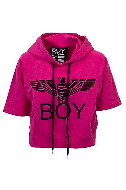 Boy London Sudadera - para mujer fucsia Tamaño de la marca XS: Amazon.es: Ropa y accesorios