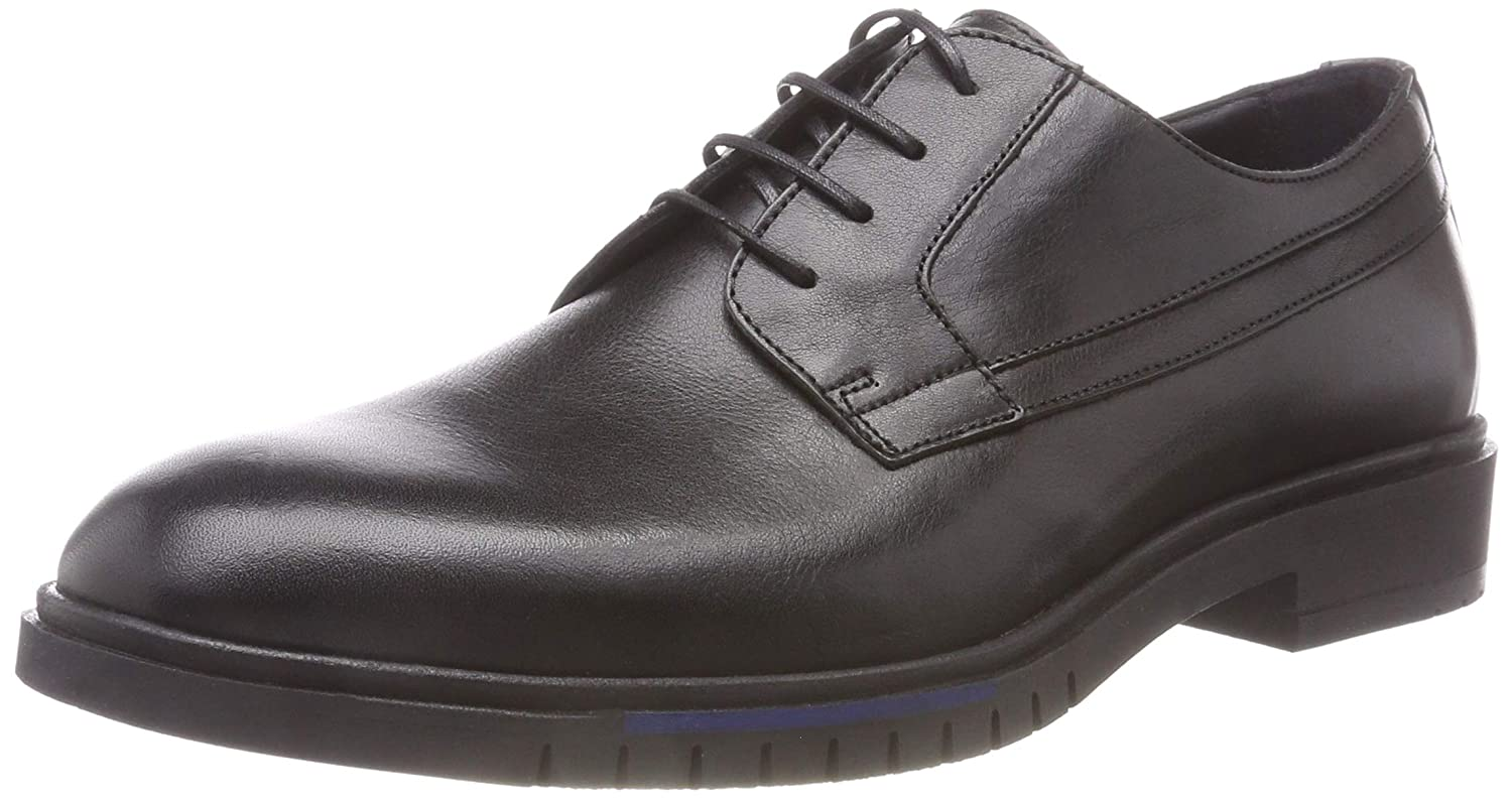 Tommy Hilfiger Flexible Dressy Leather Shoe, Zapatos de Cordones Derby para Hombre